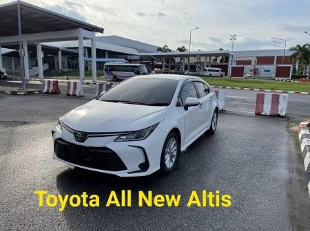 รถเช่าหาดใหญ่ Toyota New Altis